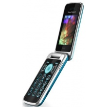 Sony Ericsson T707i Klapphandy  blue  Bild 1