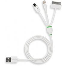 StilGut Magic Trio - Lightning Dock Micro-USB Sync- und Ladekabel weiß Bild 1