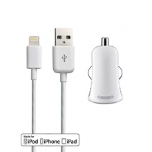 Autoladeset Apple iPod/iPhone/iPad weiss Bild 1