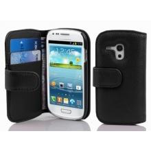 PU Leder Muster Schutzhülle Book Style für Samsung Galaxy S3 MINI schwarz Bild 1