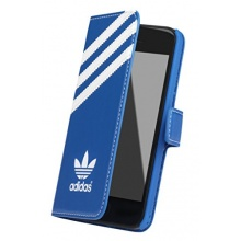 adidas Booklet Case für Apple iPhone 5C blau/weiß Bild 1