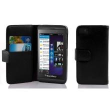 PU Leder Muster Schutzhülle Book Style für Blackberry Z10 in schwarz Bild 1