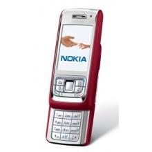 Nokia E65 Slider Handy red silver Bild 1