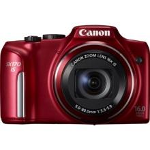 Canon PowerShot SX170 IS Bridgekamera rot Bild 1