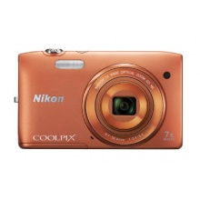 Nikon Coolpix S3500 Kleinbildkamera orange Bild 1