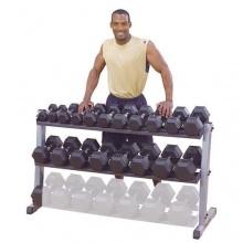 Kurzhantel-, Gewichtsständer mit 2 Ablagen von Body-Solid Bild 1