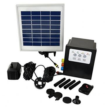 solar teichpumpe oslo 300 light remote test. Black Bedroom Furniture Sets. Home Design Ideas