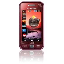 Samsung Star S5230 Smartphone garnet-red Bild 1