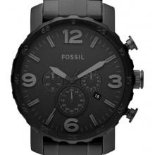 Fossil Herren Analog Armbanduhr XL Nate Quarz-Chronograph Edelstahl IPB beschichtet JR1401  Bild 1