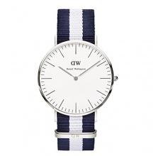 Daniel Wellington Herren Analog Armbanduhr XL Glasgow Analog Quarz Nylon 0204DW Bild 1