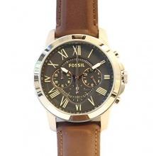 Fossil Herren Analog Armbanduhr Grant Analog Quarz Edelstahl beschichtet FS4813  Bild 1