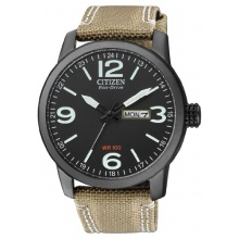 Citizen Herren Analog Armbanduhr XL Analog Quarz Nylon BM8476-23EE  Bild 1