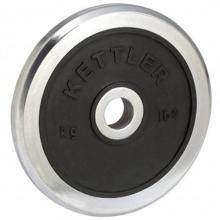 Kettler Hantelscheibe, Schwarz/Silber Bild 1