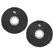 Oly. Gummi-Gripper 5,0Kg (2x2,5) Hantelscheiben Hantel Gewichte, 50/51mm Bild 1
