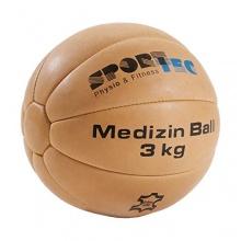 Medizinball aus Leder, 26 cm, 3 kg von Sport-Tec Bild 1