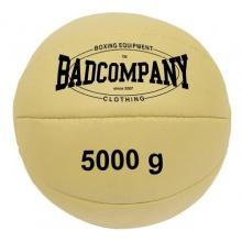 Professioneller Leder Medizinball 5Kg von Bad Company Bild 1