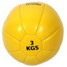 Profi Medizinball Kunstleder 3 kg von POWRX Bild 1