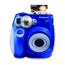 Polaroid 300 Sofortbildkamera mit Auto-Blitz blau Bild 1