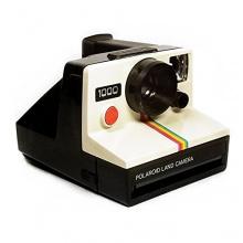 Polaroid 1000 mit Veloursledereinsätzen 1970s Sofortbildkamera Bild 1