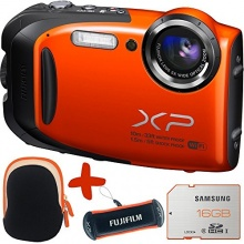 Fuji XP70 Orange Waterproof Unterwasserkamera Bundle Bild 1