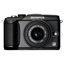 Olympus E-PL2 Systemkamera schwarz mit 14-42 mm Objektiv Bild 1