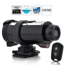 Helmkamera HD DVR Bewegungskamera mit Halterungsset HD720P Wasserdicht schwarz  Bild 1