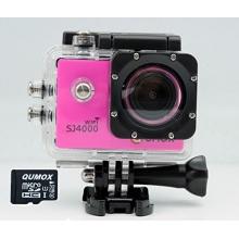QUMOX WIFI Helmkamera SJ4000 Action Sport Kamera Rosa Bild 1