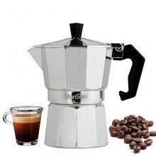 VonShef Italienischer Espressokocher für den Herd, 3 oder 6 Tassen Bild 1