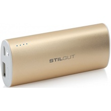 StilGut Magic Wand Power Bank Akku mit 5.200 mAh, gold Bild 1