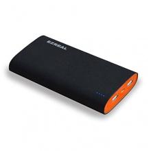 EzReal Stein Gefühl 16000mAh Dual USB Akku PowerBank schwarz Bild 1