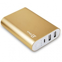 JETech 7800mAh Dual USB Portable Batterie PowerBank Gold Bild 1
