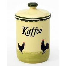 Zeller Keramik Kaffeedose Hahn und Henne  Bild 1