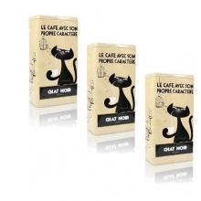 3 x Zwarte Kat Kaffeedose Chat Noir Bild 1