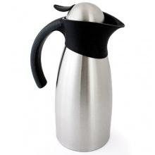 Relaxdays Thermokanne Kaffeekanne Edelstahl ca. 1 L doppelwandig Bild 1