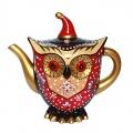 Kaffeekanne Eule aus Leichtkeramik Hand bemalt von Jameson und Tailer Bild 1
