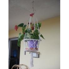 Blumenampel Makramee , beige Bild 1