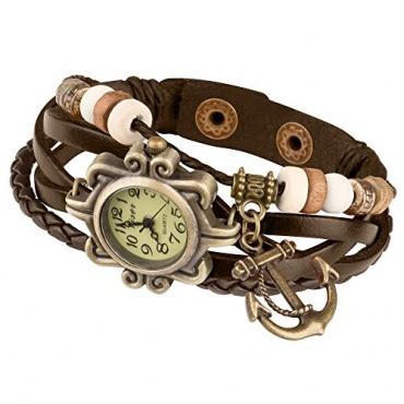 Taffstyle® Damen Analog Armbanduhr Lederarmband  Bild 1