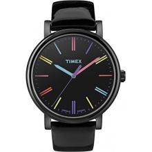 Timex Damen analoge Armbanduhr Leder schwarz  Bild 1