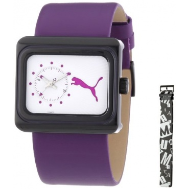 Puma Time Damen analoge Armbanduhr Quarz Leder  Bild 1