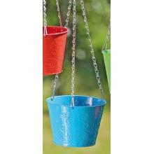 Pflanztopfhänger Tilla Metall blau D 15 cm Blumenampel Bild 1