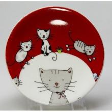 Teebeutelablage Globetrotter in Cat-Dekor von Könitz Bild 1