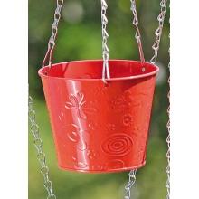 Blumenampel Tilla Metall rot D 18 cm Bild 1