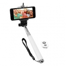 NINETEC Picturesmart Selfie Stick Bluetooth Android Weiß Bild 1