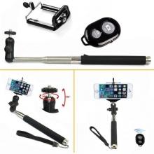 Portable erweiterbar Selfie Stick Einbeinstativ Kit Bluetooth Bild 1
