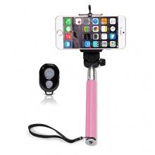 iGard® Selfie Stick Stange Halterung Bluetooth Rosa Bild 1