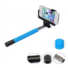 Invero Eingebaute drahtlose Bluetooth Selfie Stick Blue Bild 1