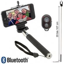 XAiOX Schwarz Bluetooth Selfie Stange Stick Stab Monopod Bild 1