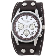 Mike Ellis New York Herren XL Chronograph Quarz Leder SL4-60223 Bild 1