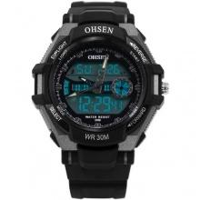 OHSEN Sportuhr LED Digitaluhr LCD Herren Uhr Quarzuhr Gummi Bild 1