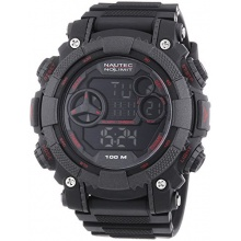 Nautec No Limit Herren XL Akula D Digital Quarz AK QZ-D/PCRDPCBKBK-RD Bild 1